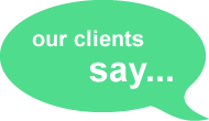 Our clients say